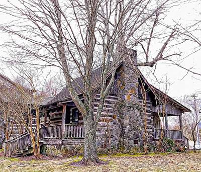 Photograph - Hiawassee Log Cabin by Joe Duket