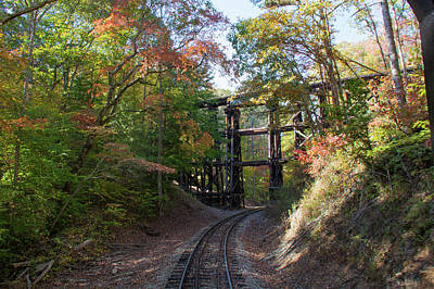 Photograph - Hiawassee Loop Railroad Trestle by John Black