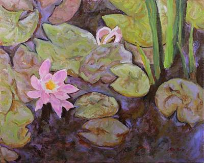 Painting - Hiawassee Water Lillies by Nita Burge