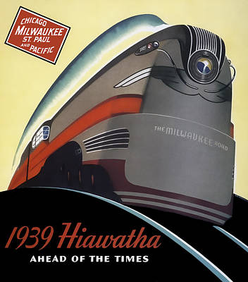 Milwaukee Road Photograph - Hiawatha Streamlined Train 1939 by Daniel Hagerman
