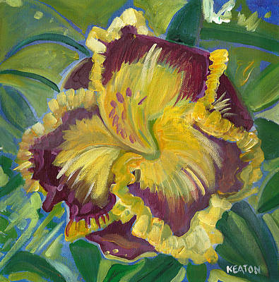 Print featuring the painting Hibiscus 2 by John Keaton