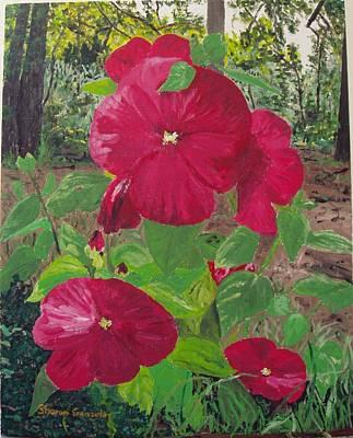 Hibiscus 2 Art Print by Sharon  De Vore