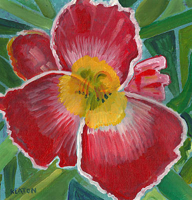 Print featuring the painting Hibiscus 3 by John Keaton