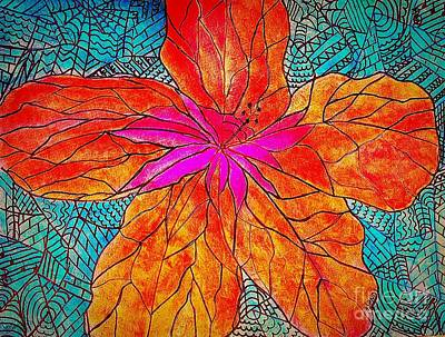 Painting - Hibiscus Abstract by Anne Sands