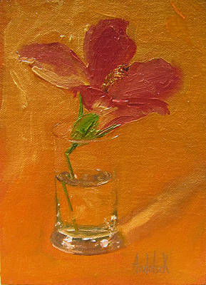 Flora And Fauna Painting - Hibiscus by Barbara Andolsek