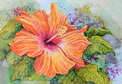 Painting - Hibiscus Blossom by Sandy Sandy