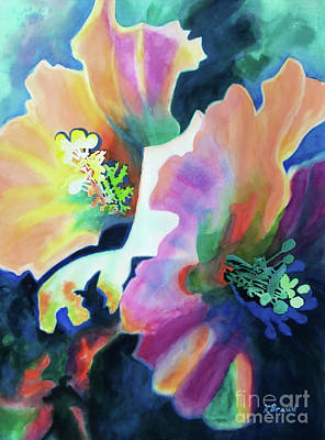 Painting - Hibiscus Blossoms by Kathy Braud