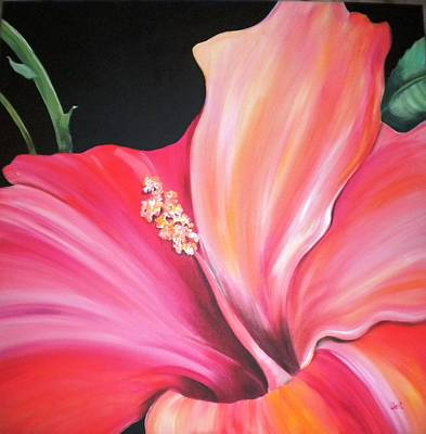 Pople Painting - Hibiscus by Debi Starr