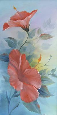 Painting - Hibiscus by Debra Campbell
