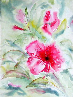 Painting - Hibiscus Fantasy by Diane Kirk