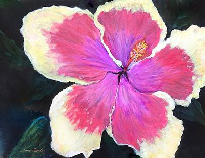 Painting - Hibiscus Flower by Anne Sands