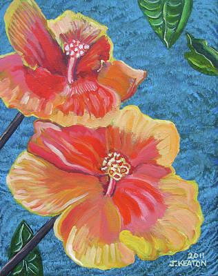 Painting - Hibiscus Flowers by John Keaton