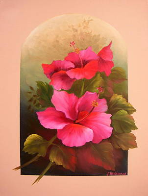 Painting - Hibiscus Garden by Francine Henderson