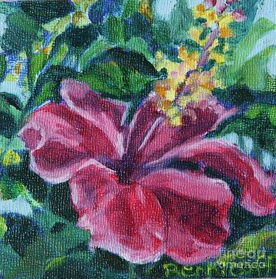 Painting - Hibiscus In Miniature by Jan Bennicoff