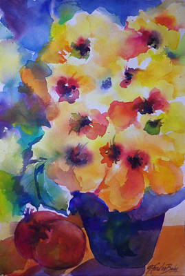 Painting - Hibiscus In Yellow by Therese Fowler-Bailey