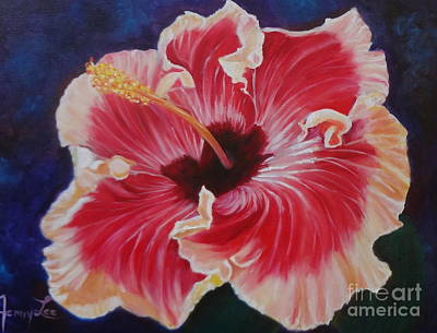 Art Print featuring the painting Hibiscus by Jenny Lee