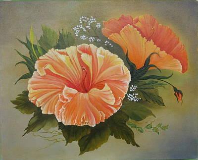 Hibiscus  Art Print by Joan Taylor-Sullivant