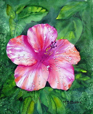 Hibiscus Art Print by Maria Barry
