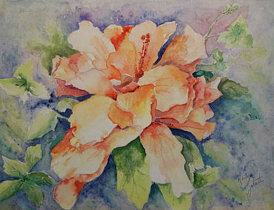 Painting - Hibiscus by Marilyn Zalatan