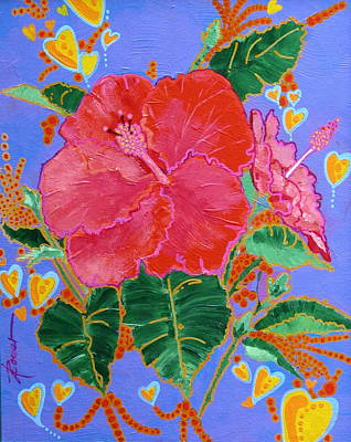 Painting - Hibiscus Motif by Adele Bower