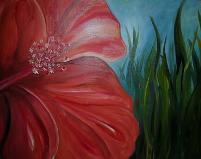 Carter.oil Painting - Hibiscus Painting by Pristine Cartera Turkus
