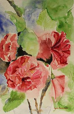 Painting - Hibiscus Stilllife In Impressionism Style by Geeta Biswas