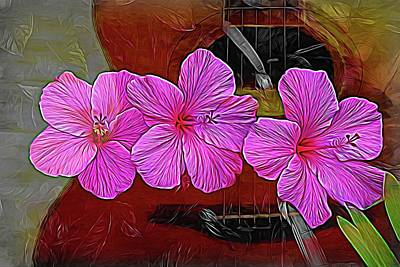 Photograph - Hibiscus Strings by Alice Gipson