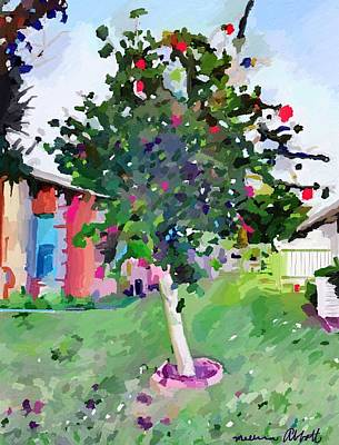Painting - Hibiscus Tree On Porpoise Street, Merritt Island, Fl. by Melissa Abbott