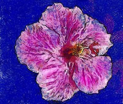 Photograph - Hibiscus Van Gogh by Alice Gipson