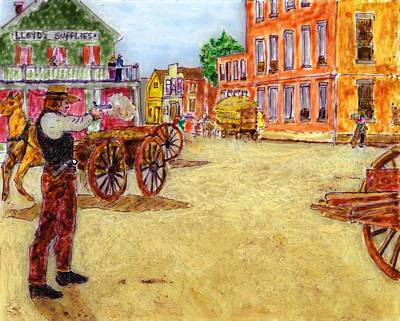 Painting - Hickok 1865 Springfield Mo by Phil Strang