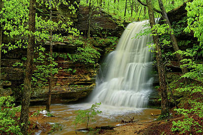 Photograph - Hickory Canyons Waterfall by Robert Charity