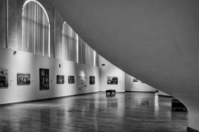 Photograph - Hickory Museum Of Art In Black And White by Greg Mimbs