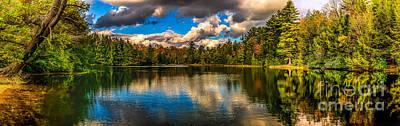 Photograph - Hickory Run Lake -pa by Nick Zelinsky