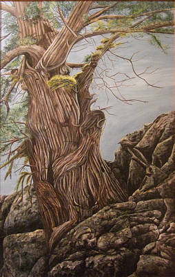 Painting - Hidden Art Juniper by Cindy Wright