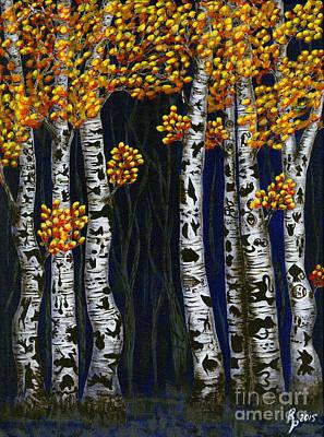 Hidden Autumn  Art Print by Rebecca Parker