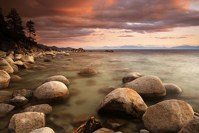 Photograph - Hidden Beach At Sunset by Eric Foltz
