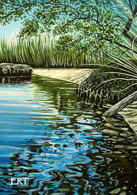 Painting - Hidden Beach by Elizabeth Robinette Tyndall