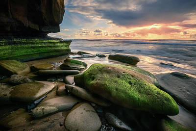 Photograph - Hidden Beach Sunset by Alexander Kunz