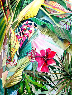 Orchids Drawing - Hidden Beauty by Mindy Newman