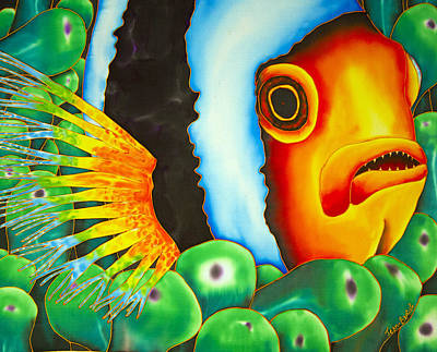 Hidden Clownfish Art Print by Daniel Jean-Baptiste