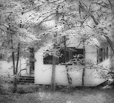 Photograph - Hidden Cottage - Mammoth Cave National Park - Kentucky - B/w by Greg Jackson