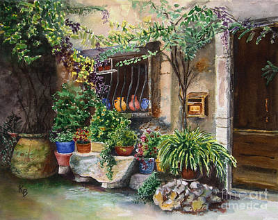Painting - Hidden Courtyard by Karen Fleschler