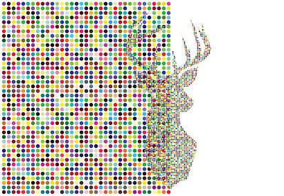 Digital Art - Hidden Deer by Brian Kirchner