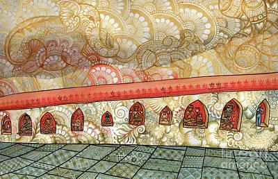 Wall Art - Painting - Hidden Deities by Susanna Fields-Kuehl