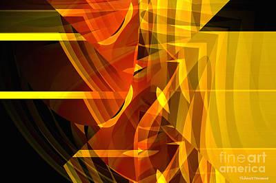 Transparency Geometric Digital Art - Hidden Face by Thibault Toussaint