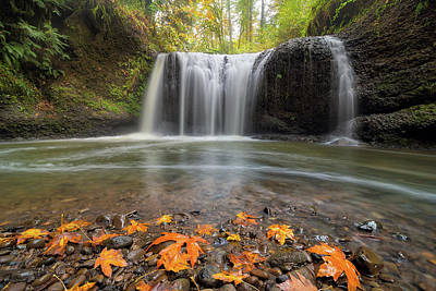 Hiking Photograph - Hidden Falls In Clackamas Oregon by David Gn