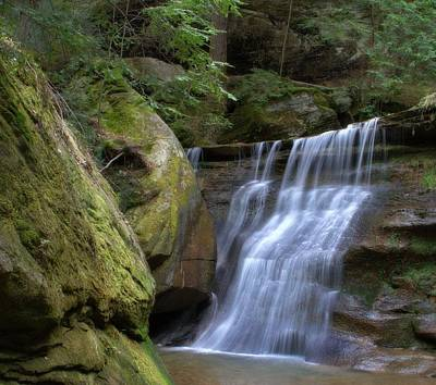 Photograph - Hidden Falls In Hocking Hills by Dan Sproul