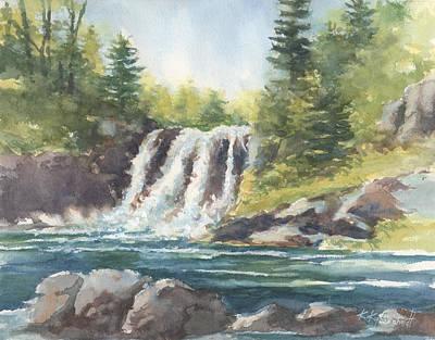 Painting - Hidden Falls by Kerry Kupferschmidt