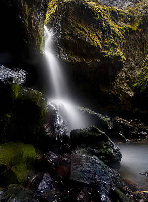 Cavern Photograph - Hidden Falls by Mike  Dawson