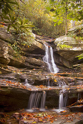 Photograph - Hidden Falls Of Danbury, Nc by Bob Decker